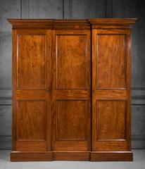 antique mahogany bedroom wardrobe closed
