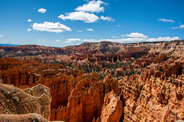 Fotobehang Rood paars Sand hoodoos formed due to erosion in the valley of Bryce Canyon National Park in Arizona