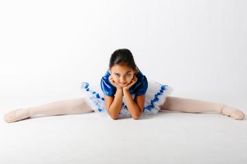 Little Ballerina over white background
