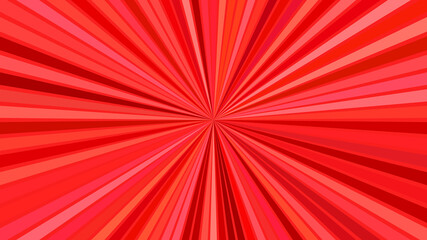 Red psychedelic abstract striped ray burst background design - vector explosion illustration