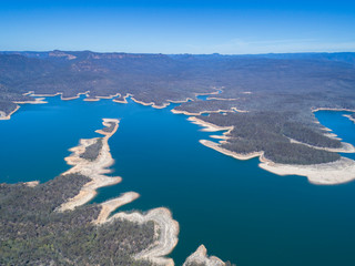Lake Burragorang is the primary source of drinking water for Sydney in New South Wales, Australia