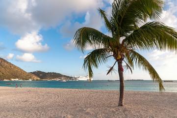 Great Bay beach - Philipsburg Sint Maarten ( Saint Martin ) - Caribbean tropical island