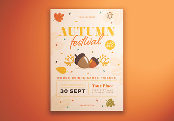 Autumn Festival Graphic Flyer Layout