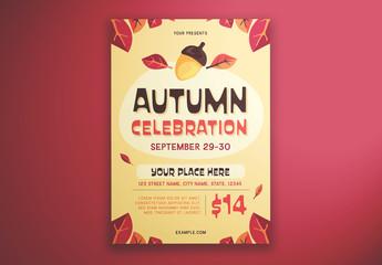 Autumn Celebration Graphic Flyer Layout