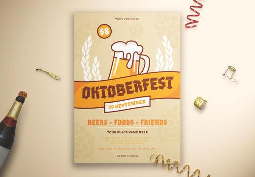 Oktober Festival Graphic Flyer Layout