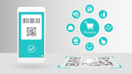 Cashless society and digital payments (QR Code, Barcode)