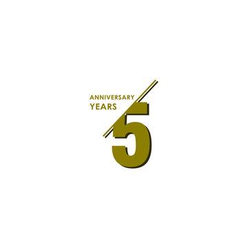 5 Years Anniversary Celebration Vector Template Design Illustration