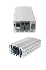 Power Inverters,DC to AC from car battery isolated on a white background with clipping path