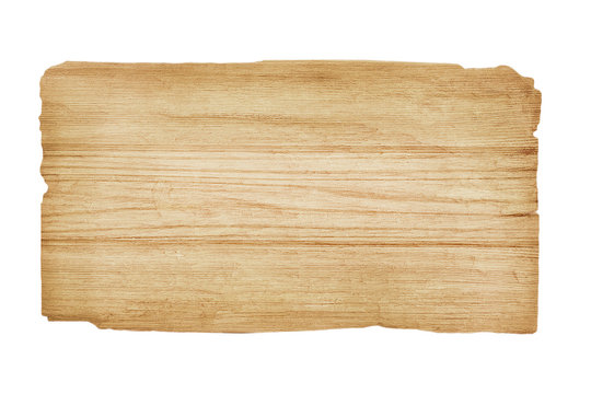 Old wood  plank  isolated on white background with clipping path