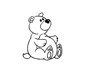 vector cartoon teddy bear
