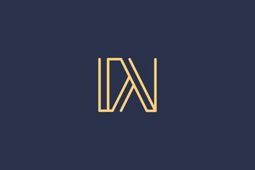 Creative Innovative Initial Letter logo DV VD. Minimal luxury Monogram. Professional initial design. Premium Business typeface. Alphabet symbol and sign.