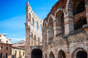 Scorcio esterno dell'Arena di Verona