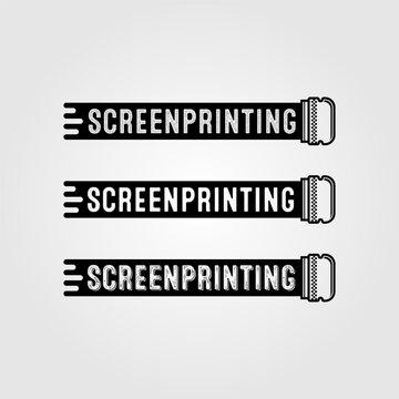 vintage screen printing vector logo sign design illustration