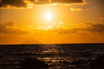 Sunset overlooking the Stromboli from Tropea