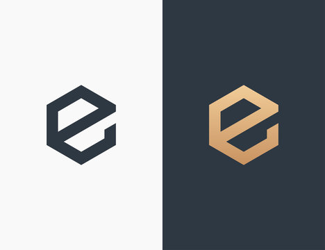 Letter E Logo Template Vector Illustration