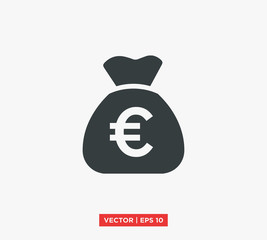 Euro Symbol Icon Vector Illustration