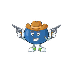 Cowboy cute and fresh blueberry fruit character cartoon.