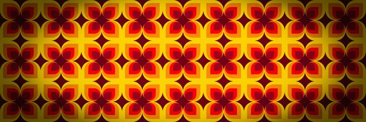 Geometric vintage wallpaper