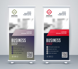 abstract rollup banner standee for business presentation