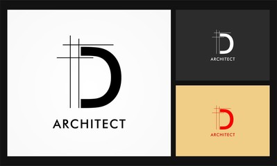 Fototapeta d architect vector logo obraz