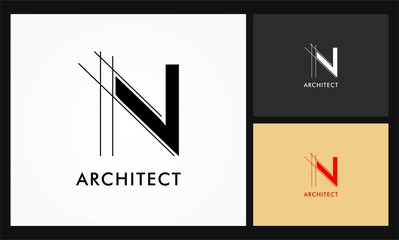 n architect vector logo