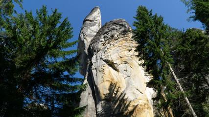 Rock city located in Adrspach Rocks park, part of Adrspach-Teplice landscape park in Broumov region, Czech Republic