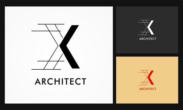 x architect vector logo