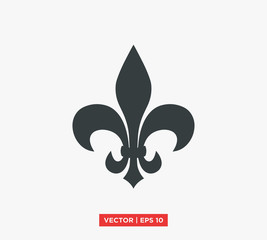 Fleur De Lis Heraldic Symbol Icon Vector Illustration
