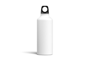 Bottle for water isolated on white background. 3d rendering. Minimalism. reuse