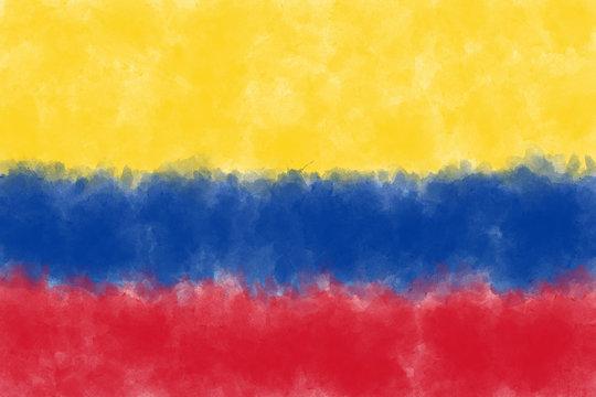 Kolumbien Vintage Flagge