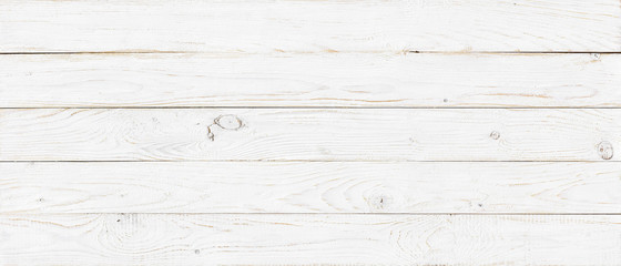 Photo sur Toile Bois white wood texture background, wide wooden plank panel pattern