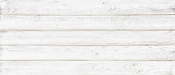 white wood texture background, wide wooden plank panel pattern Wall mural