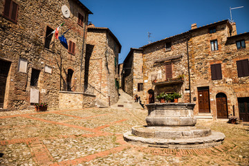 Ancient village Castiglione d'Orcia in Tuscany - Italy.