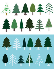 Collection of trees in soft colors