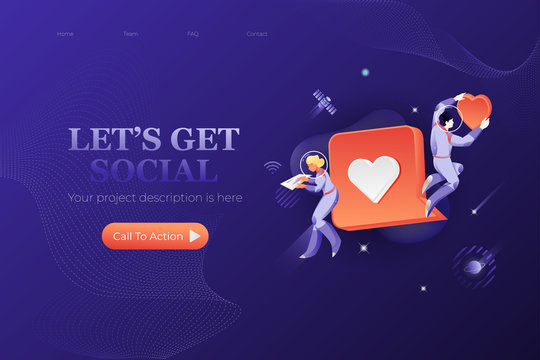 Lets Get Social  Web Page Template