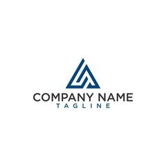 initial la or a logo vector