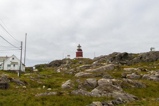 Utsira lighthouse on the western coast of Norway.