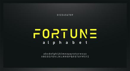 urban modern alphabet font and number. Typography future creative design concept fonts and numbers. vector illustraion