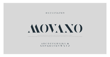Elegant alphabet letters font and number. Classic Lettering Minimal Fashion Designs. Typography fonts regular uppercase typo set. vector illustration