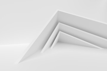 Fotobehang - Abstract Interior Design. White Modern Background