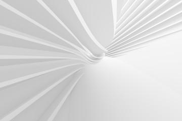 White Circular Building. Geometric Graphic Design Wall mural