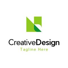 Letter N Leaf Creative Business Logo