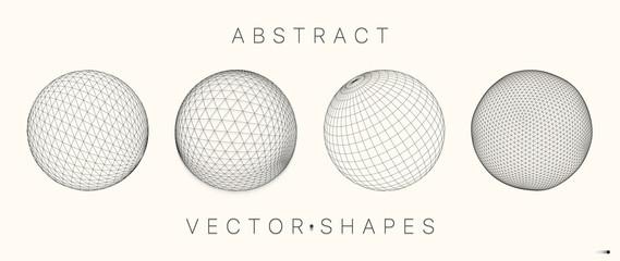 Geometric shape for design. 3d technology style. Fotobehang