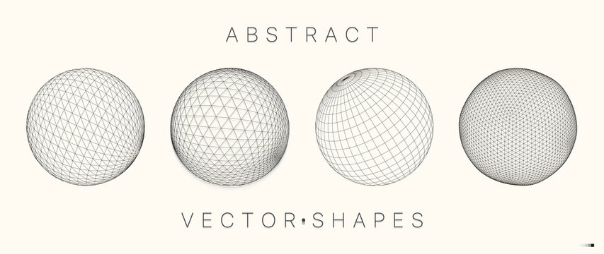Geometric shape for design. 3d technology style.