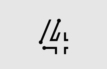 Fototapeta number 4 logo design with line and dots obraz