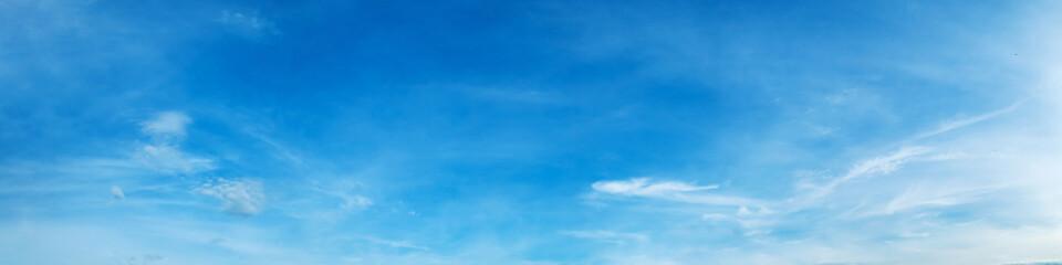 Fototapeta Panorama sky with cloud on a sunny day. Beautiful cirrus cloud.