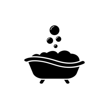 Bath vector logo illustration isolated sign symbol. Icon pictogram for web graphics