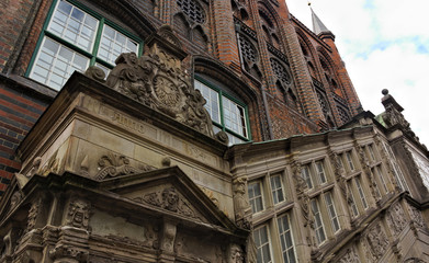 renaissance stairs - town hall - Luebeck