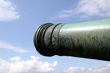 Quarter cannon on a gun carriage – Königstein – Germany Fototapete
