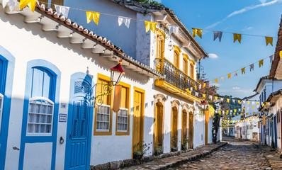 Foto auf Acrylglas Rio de Janeiro Historical centre of Paraty in Brazil